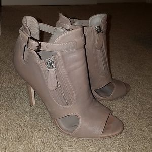 Taupe Leather Steven by Steve Madden Linore Bootie